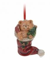 Kersthanger kerstbeer in sok 8 cm trend