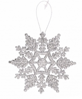 Kersthanger sneeuwvlok zilver type 2 trend
