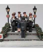Kersthuisje accessoire leger des heils koor met verlichting trend