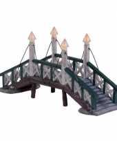 Kersthuisje accessoire verlichte brug uit hindeloopen trend