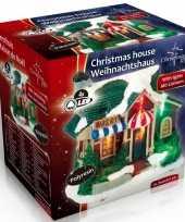 Kersthuisje bakkerij led kerst decoratie 9 x 6 x 9 cm trend