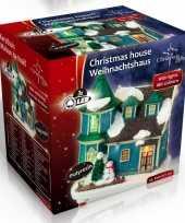 Kersthuisje villa led kerst decoratie 9 x 6 x 9 cm trend