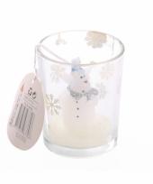 Kerstkaarsje ijsbeer in glas trend
