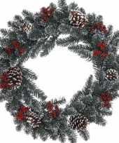 Kerstkrans dennentakjes 60 cm trend