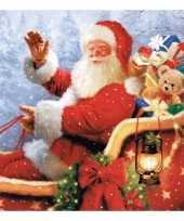 Kerstman servetten trend