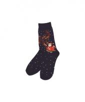 Kerstmis sokken blauw trend