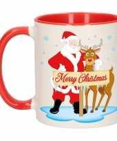 Kerstmok rudolph en santa 300 ml trend