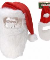 Kerstmuts met snor en baard trend