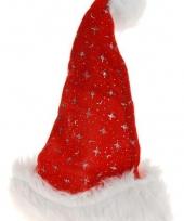 Kerstmuts met sterretjes en pompon trend