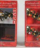Kerstslinger met decoratie 2 7 m goud trend