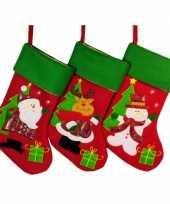 Kerstsok met rendier 46 cm trend 10076179