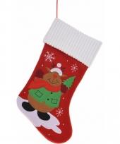 Kerstsok met rendier 46 cm trend
