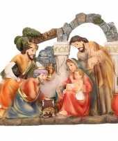 Kerststal beeldje heilige familie 17 x 15 cm trend