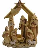 Kerststal met 10 figuren 35 cm trend