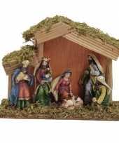 Kerststal met 6 figuren 20 cm trend