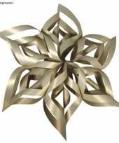 Kerstster knutsel set goud trend