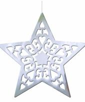 Kerstster versiering zilver 50 cm trend