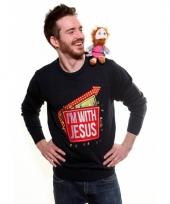Kersttrui i am with jesus trend