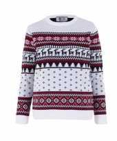 Kersttrui voor kinderen met foute nordic print trend