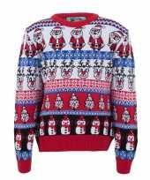 Kersttrui voor volwassenen met foute nordic print trend
