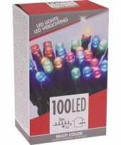 Kerstverlichting budget gekleurd buiten 100 lampjes trend