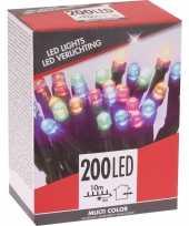 Kerstverlichting budget gekleurd buiten 200 lampjes trend