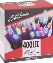 Kerstverlichting budget gekleurd buiten 400 lampjes trend