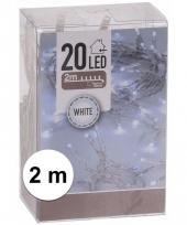 Kerstverlichting op batterij helder wit 20 lampjes trend