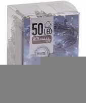 Kerstverlichting op batterij helder wit 50 lampjes trend