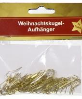 Kerstversiering haakjes voor kerstballen goud 50 x trend