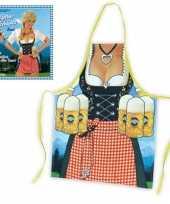 Keukenschort vrouw met heidi jurkje trend