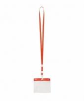 Keycord naamkaarthouder voor beurzen 11 2 x 58 cm trend 10089771