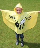 Kinder cape geel met bijtje trend