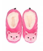 Kinder dieren sloffen kat roze trend