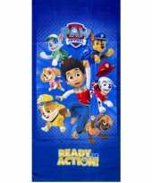 Kinder handdoek paw patrol ready for action trend