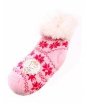Kinder huissokken roze fuchsia trend