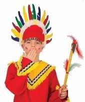Kinder indianen verkleed hoofdtooi met veren trend