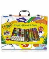 Kinder kleurtjes set in koffer 150 delig trend