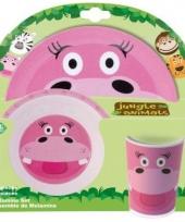 Kinder ontbijtset nijlpaard trend