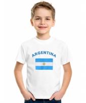 Kinder shirts met vlag van argentinie trend