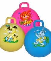 Kinder skippyballen blauw met konijn trend