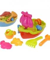 Kinder strand speelgoed boot met accessoires trend