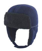 Kinder trapper winter muts navy trend