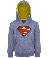 Kinder trui superman blauw van katoen trend
