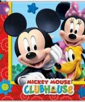 Kinder verjaardag servetten mickey mouse 20 stuks trend