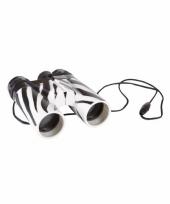 Kinder verrekijker zebraprint 11cm trend