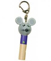 Kinder waarschuwingsfluitje muisje 7 cm trend
