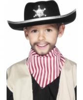 Kinder zwarte sherrif hoed trend