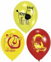 Kinderfeest ballonnen safari trend