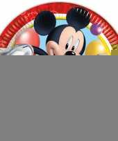 Kinderfeestje bordjes mickey mouse trend